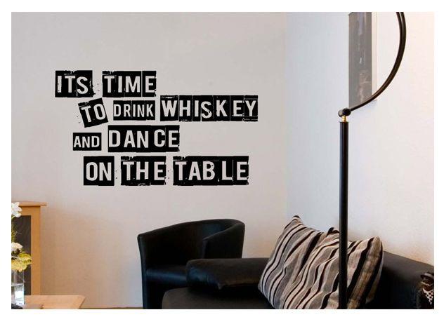 "Naklejki na ścianę PROJEKT 326 ""time to drink whiskey"" AG.art deco"