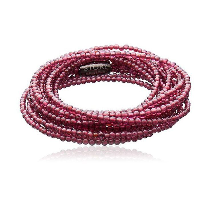 STORY Garnet Gemstone Bracelet. $189.