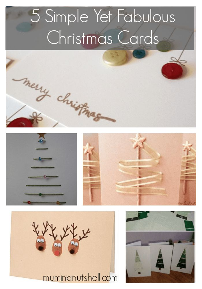 5 simple christmas cards, which anyone can make!