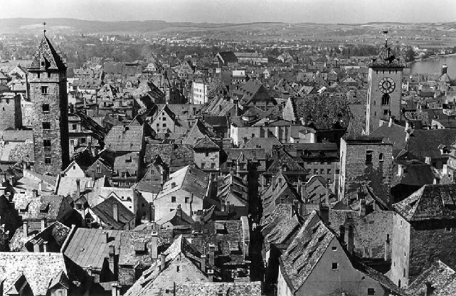 What tousled homes...historic Image of Regensburg