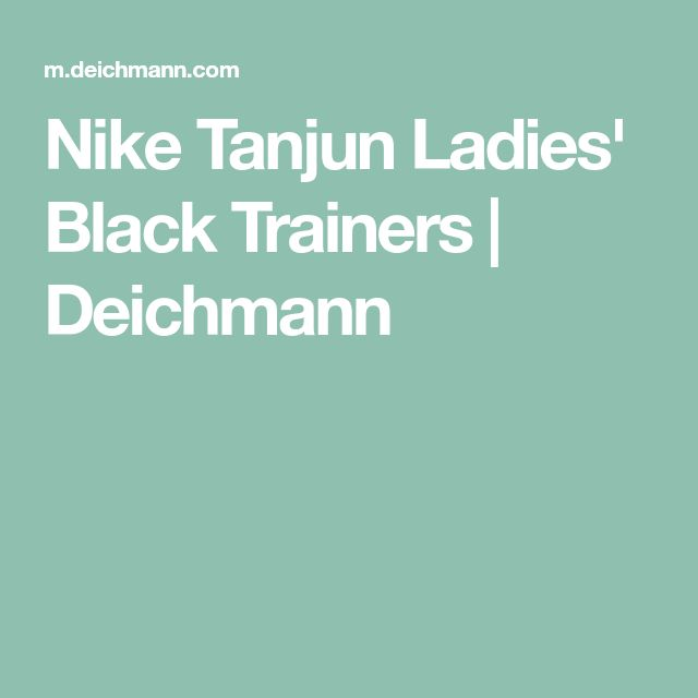 Nike Tanjun Ladies' Black Trainers | Deichmann