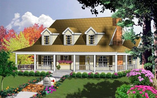 Fertighaus bauernhausstil  Farmhouse Style House Plan | Houses! | Pinterest