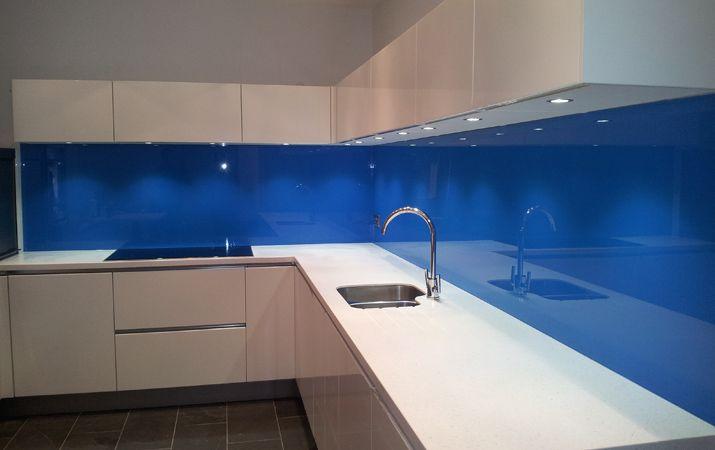 blue glass splashbacks for kitchens - Google Search