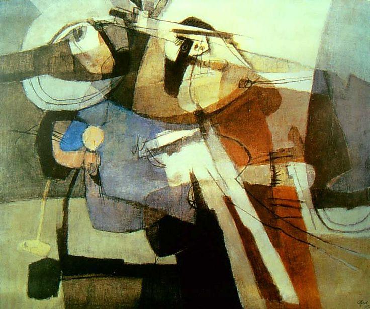 """Afro Basaldella, """"incontro"""" 1954"""