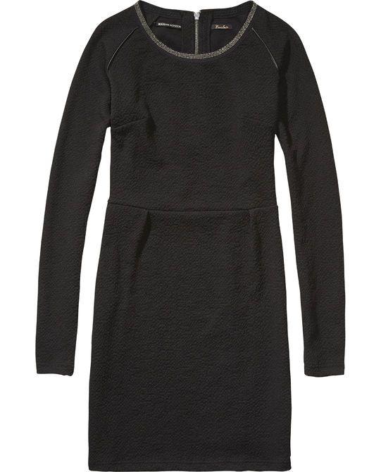 Gestructureerde stretch jurk - Scotch