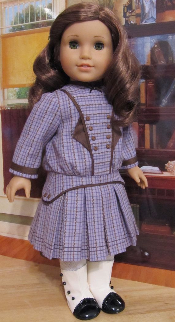 """PDF PATTERN """"1914 Pleated Frock"""" -An Original KeepersDollyDuds Design, 18"""" Doll Clothes Fit American Girl"""