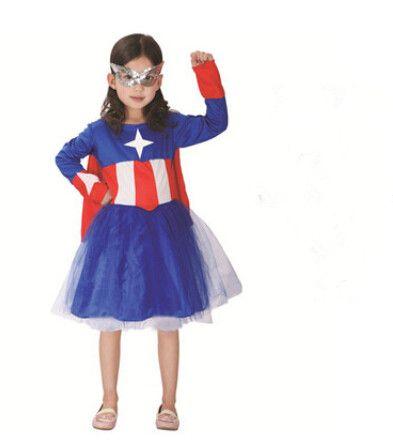 click to buy u003cu003c new kid girl child captain america costume 110