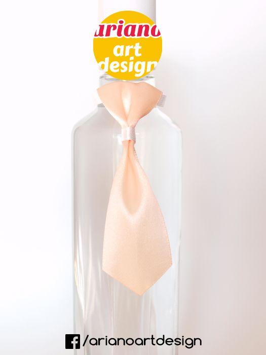 Krawat na butelkę, wódkę 5 szt zawieszki weselne PL