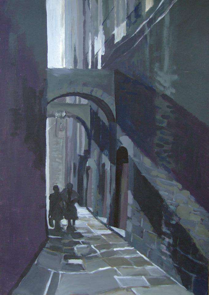"""""""Alley in Italy"""" by Natalia Bienek"""