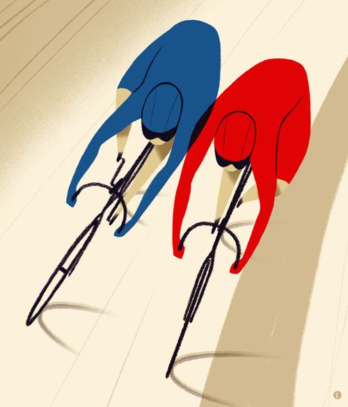 Velodrome racers illustration