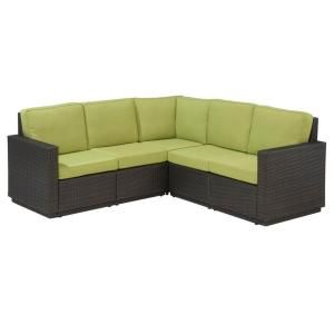 3000 Home Styles Riviera Green Apple Patio Sectional Sofa