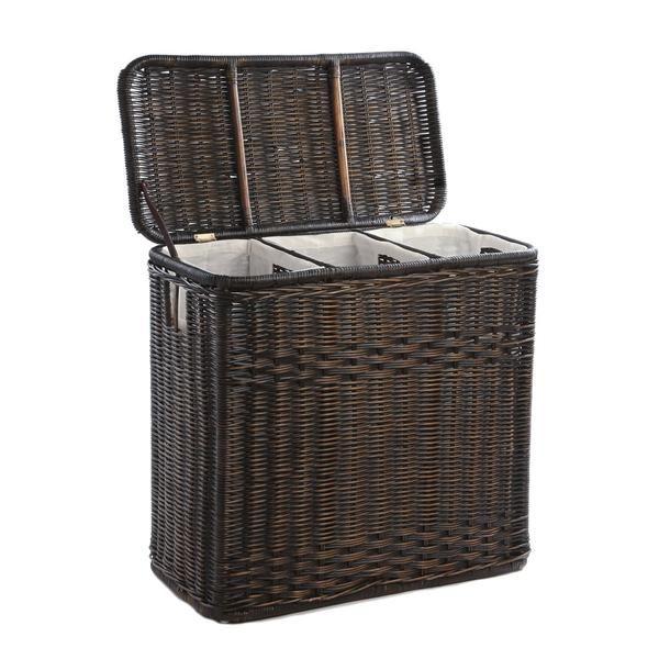 3 Compartment Wicker Laundry Hamper Wicker Laundry Hamper Laundry Hamper Wicker Hamper