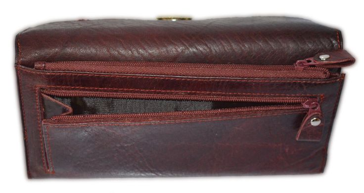 Cherry Leather Purse | Heaps Of Card Slots | Fashion Purse | Western Purse