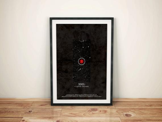 2001 A Space Odyssey Retro Scifi Movie Poster Full Of Etsy In 2020 Sci Fi Space Odyssey Movie Posters