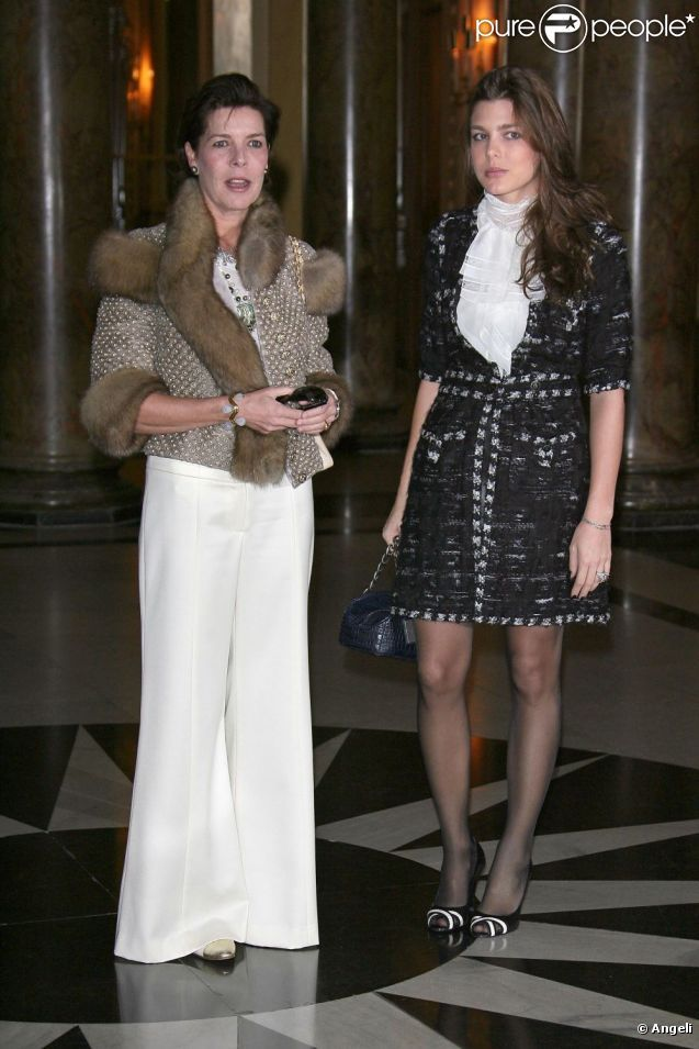 Charlotte Casiraghi in Chanel F06 and Princess Caroline in Chanel F06 Couture