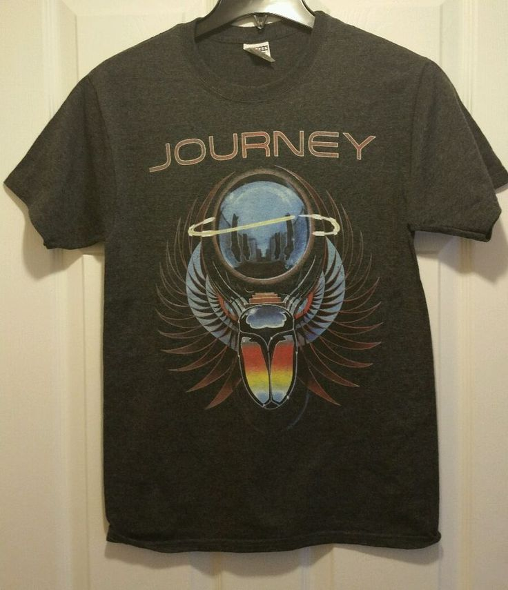 new journey captured artwork adult small #80s rock band t-shirt from $15.99