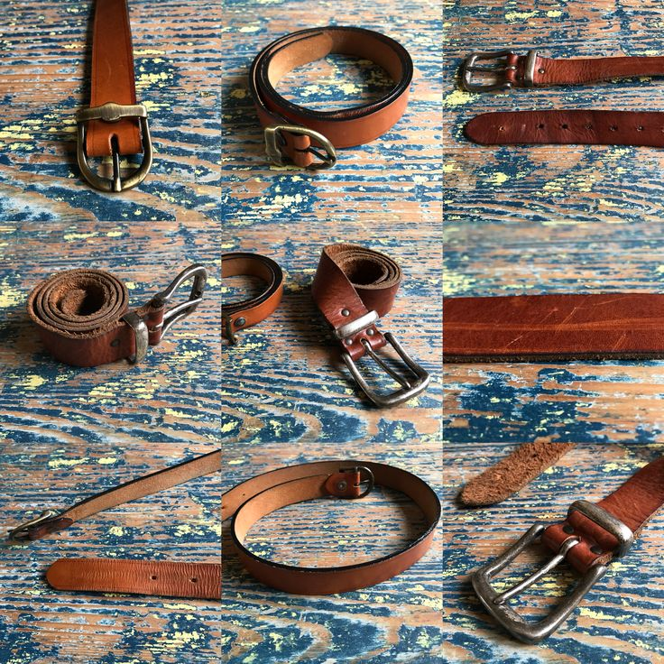 Vintage children's leather belts. Gorgeous tones, patina and smell.
