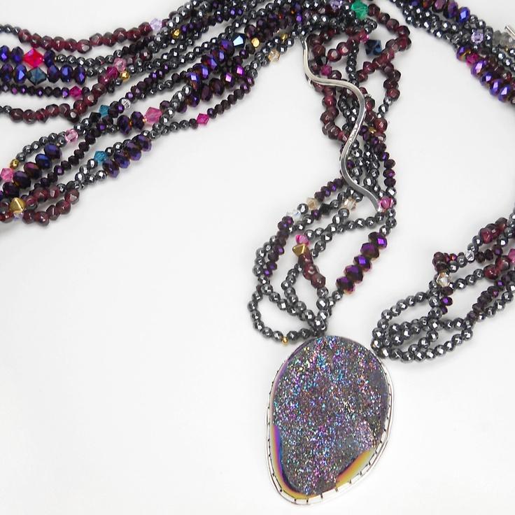 Orlando Dugi (Navajo).Brazilian Druzy Necklace. Native