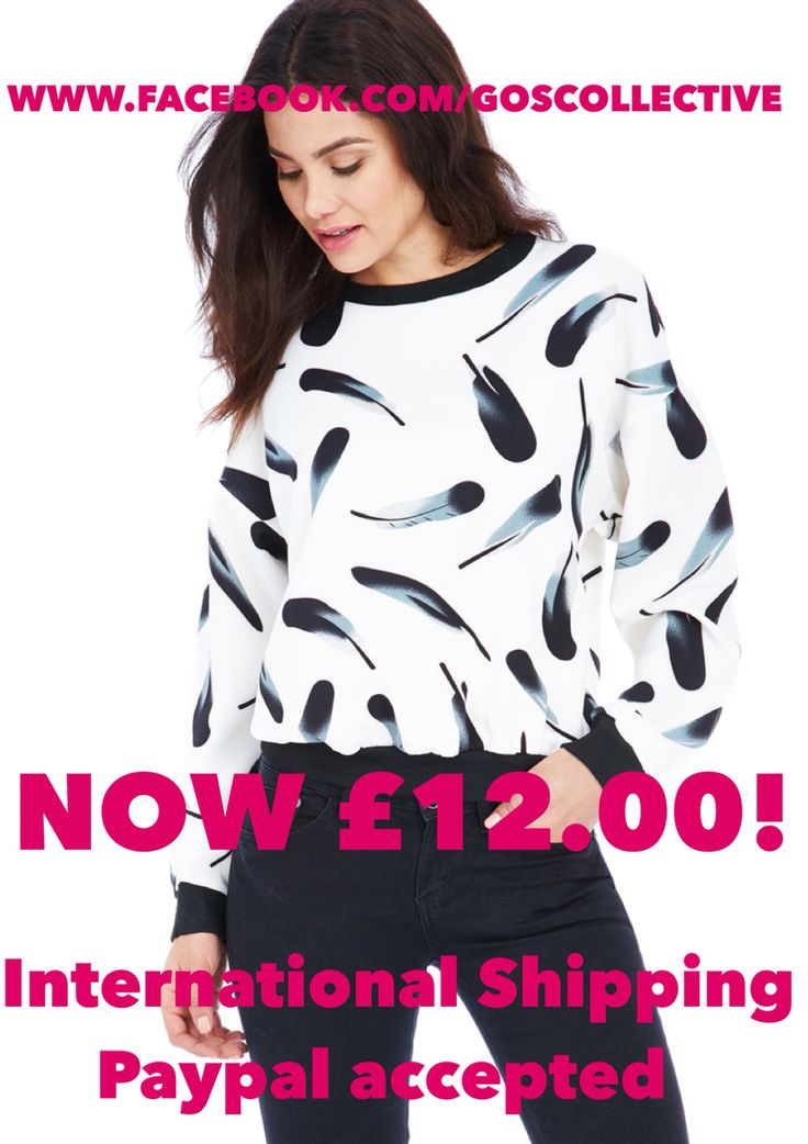 Feather Print Top. Made in the UK. International Shipping available. WWW.FACEBOOK.COM/GOSCOLLECTIVE  women's fashion. Affordable fashion