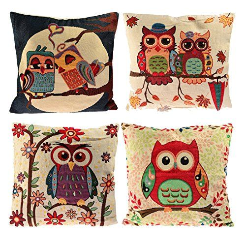 Tufted Sofa Set of Sofa Pillow Covers YIFAN Pillowcase Chair Pad Pouch Throw Pillowslip for Home Office Wedding Christmas Party Decor Owl Read more at the image