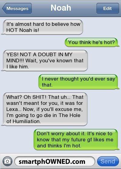 Haha. Oh' lord!