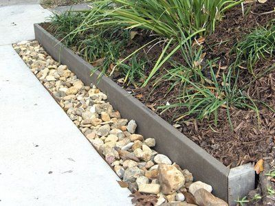 Edging ideas garden edging can be accomplished with a - Natural stone garden edging ...