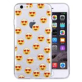 Coque Souple Smiley Coeur iPhone 6 et 6S