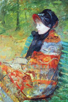 Profile of Lydia by Cassatt. Order from DEKORAMI as a poster, canvas print, mural. Zamów jako obraz na płótnie, plakat lub fototapetę na DEKORAMI.pl
