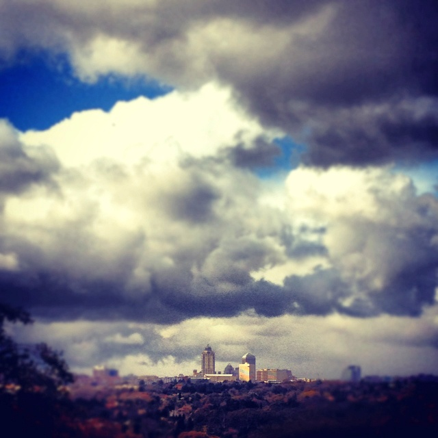 Snow Clouds over Sandton, South Africa