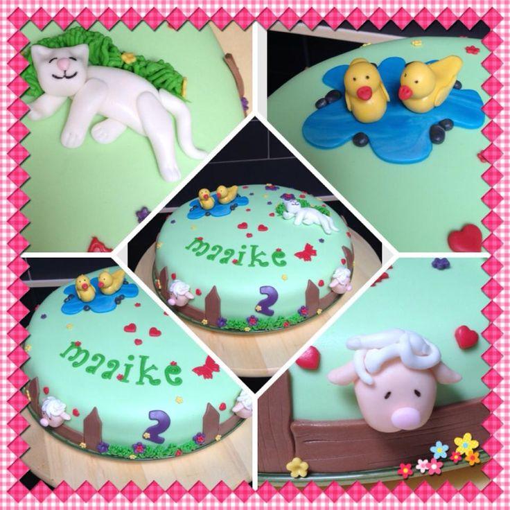Maaike wou een poesje, eendjes en schaapjes op haar taart ♥