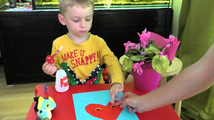 Make a greeting card on February 14 Heart for dad