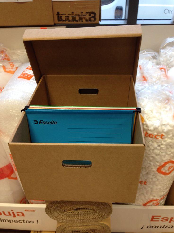 Esselte 28450 - Caja de archivo para carpetas colgantes