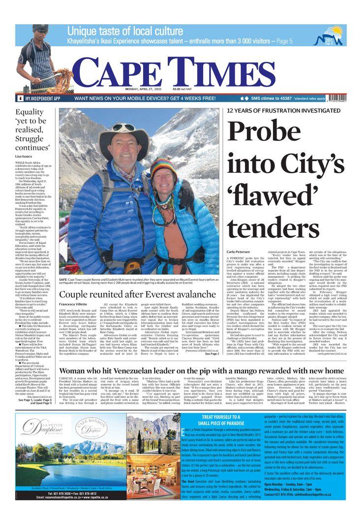 News making headlines: Probe into City's 'flawed' tenders