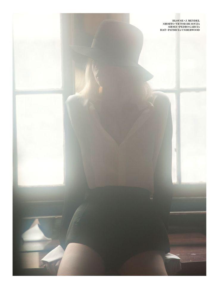 Alyona Subbotina by Alex Freund for Gravure. Cool lighting