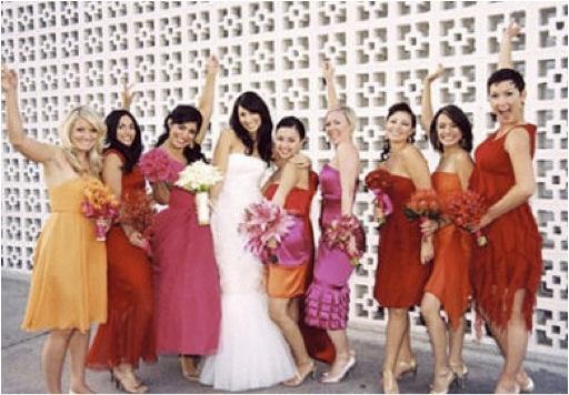 Bombay Saffron Orange Pink Crimson Purple Wedding