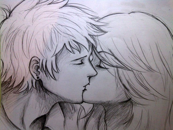 Pics For > Drawings Of Couples Kissing Tumblr