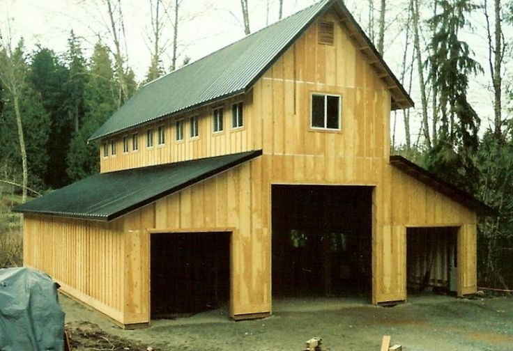 Monitor style pole barn pinterest for Pole barn with loft