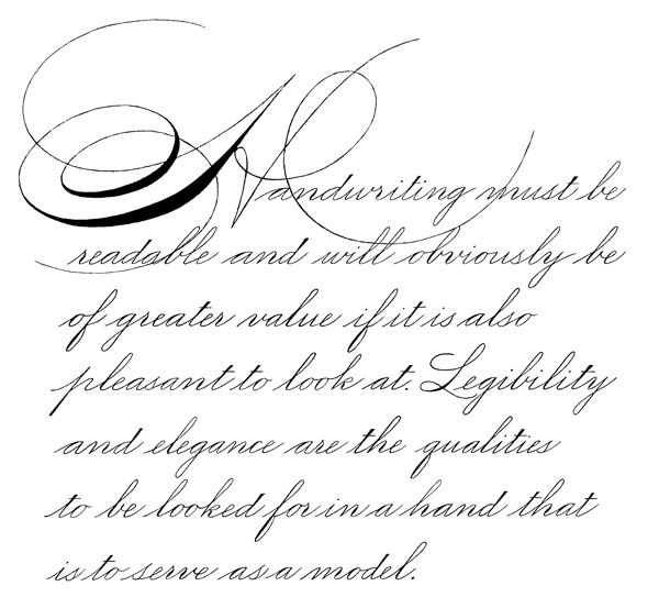 Spencerian Script Beautiful Handwriting Pinterest