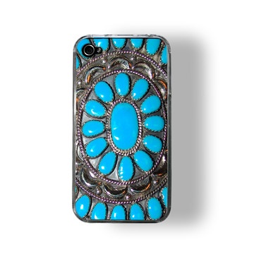 iphone case - looks like turquoise and silver jewelry - fab faux fun.