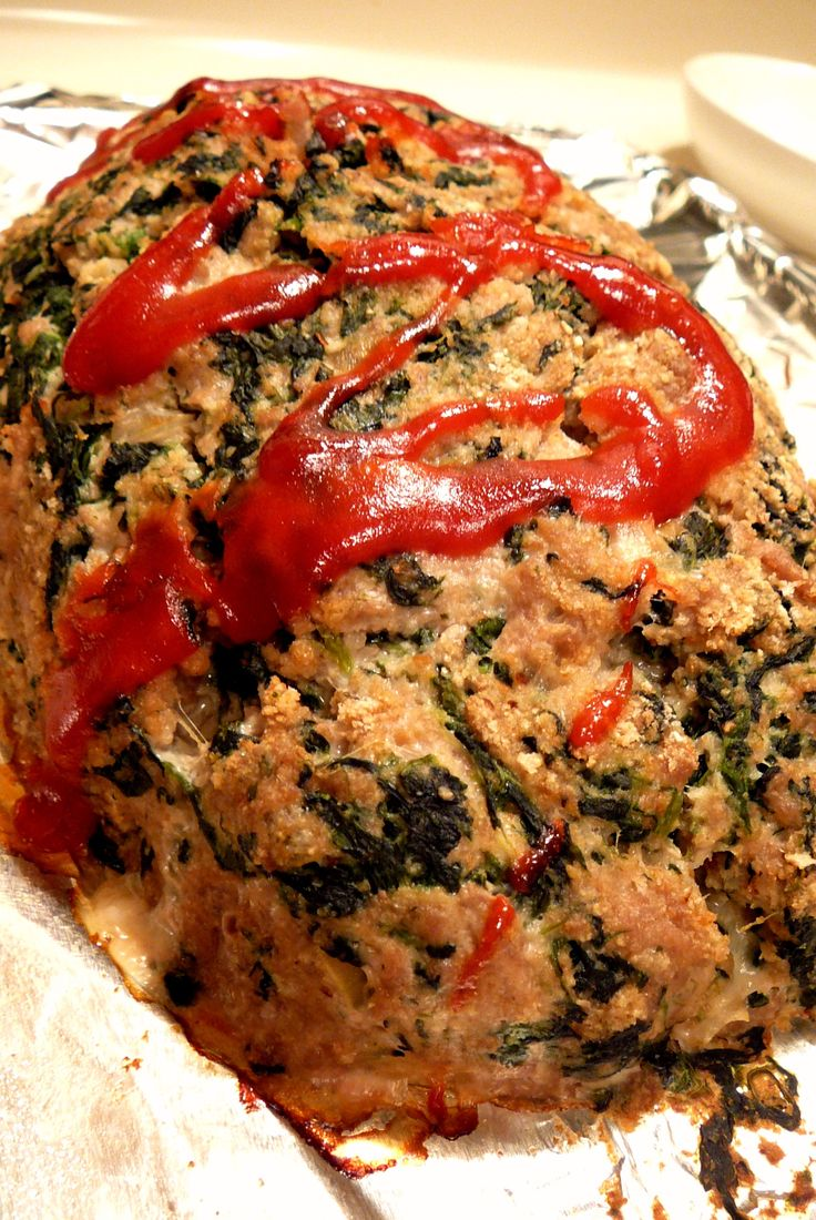 Turkey Spinach Meatloaf - a healthy meal for us and the little man