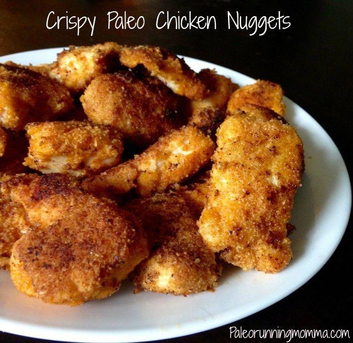 Crispy Paleo Chicken Nuggets - gluten free, grain free, and paleo chicken nugget recipe