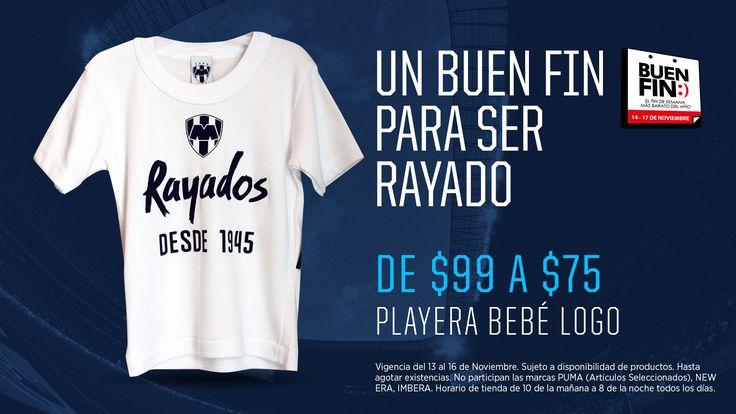 Playera bebé con logo de #Rayados.