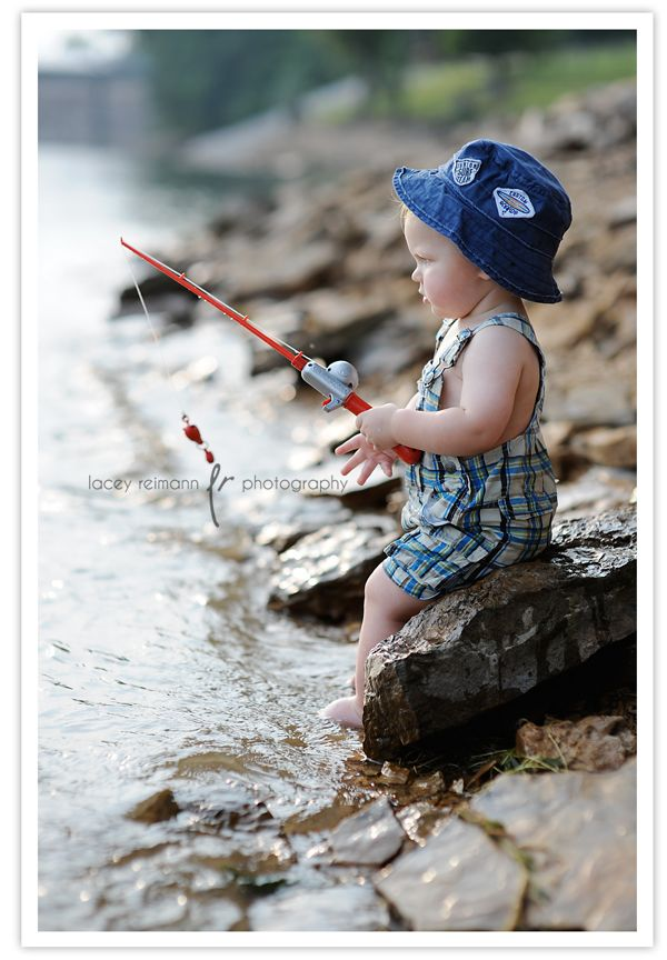 involve the little ones in a new activity, such as fishing, to keep them busy while you are capturing that perfect shot