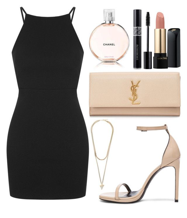 """""""Untitled #750"""" by artiola-fejza ❤ liked on Polyvore featuring Topshop, Yves Saint Laurent, Givenchy, Lancôme and Chanel"""