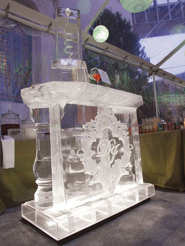 The ice bar is a MUST to take the winter wonderland theme over the top.