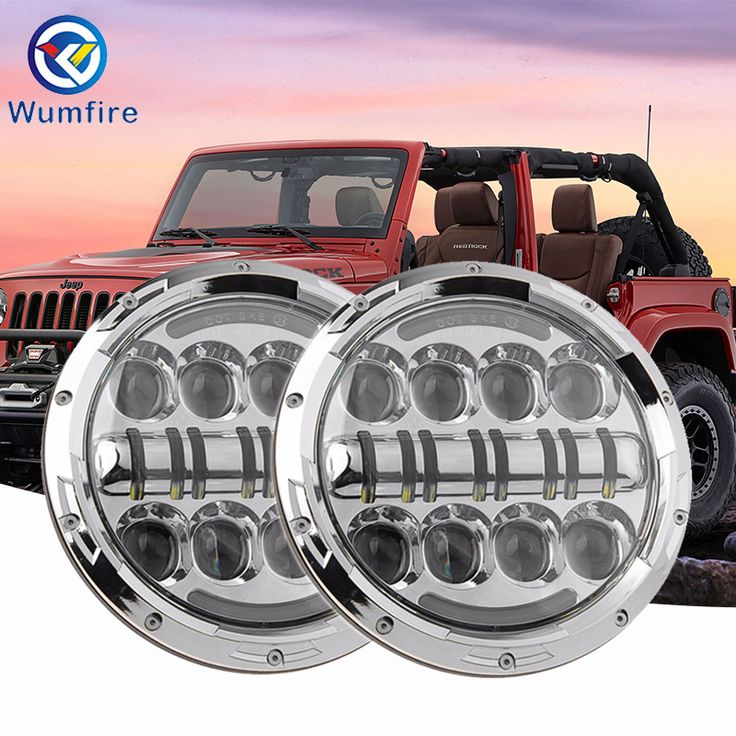 7 inch 12v Round LED Car Headlights DRL Car Headlamps For Jeep Wrangler JK TJ CJ. Yesterday's price: US $207.83 (171.00 EUR). Today's price: US $108.07 (89.63 EUR). Discount: 48%.
