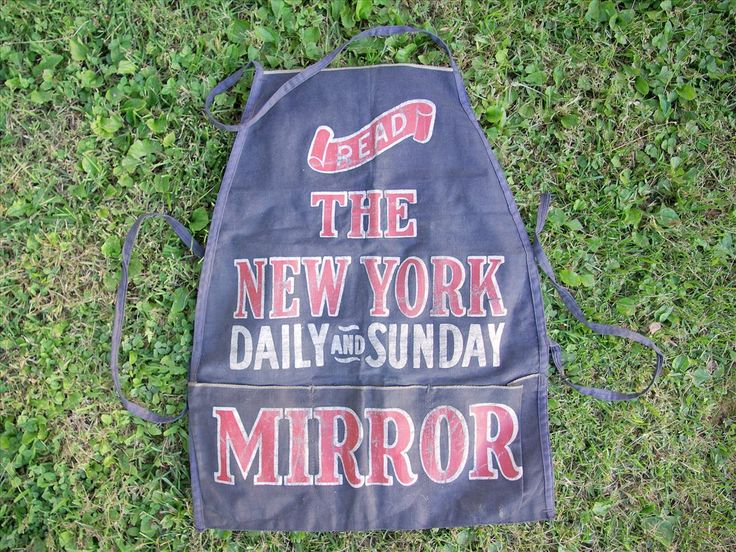 RARE 1920′s Newspaper Seller's Advertising Apron | Zachary Miller Antiques