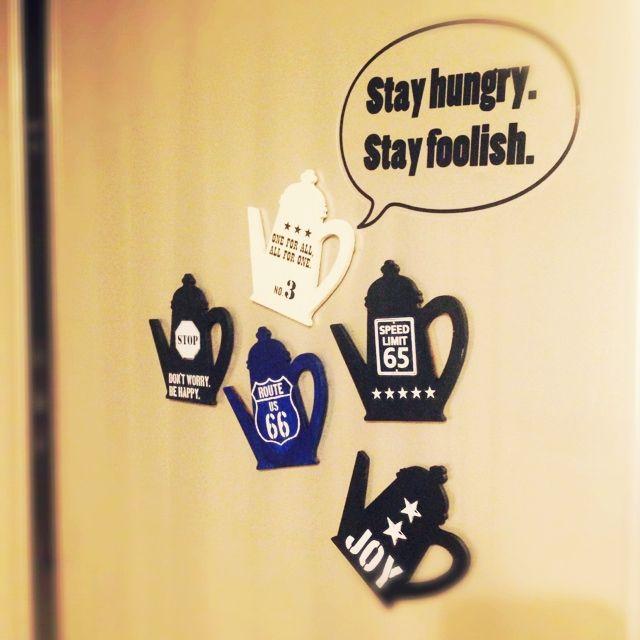 冷蔵庫/ウォールステッカー…などのインテリア実例 - 2014-06-21 05:19:26 | RoomClip(ルームクリップ)