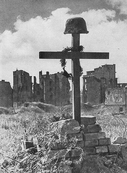 Grave of Polish fighter killed during the Warsaw Uprising. The battle lasted 63 days, and resulted in the deaths of 200.000 people (1944).