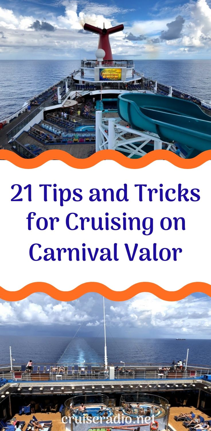 21 Tips And Tricks For Cruising On Carnival Valor Carnival Cruise Line Carnival Cruise Tips